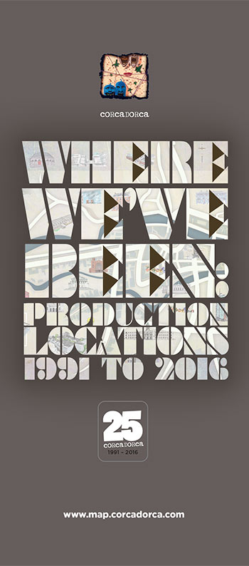 Where We've Been - Production locations 1991-2016